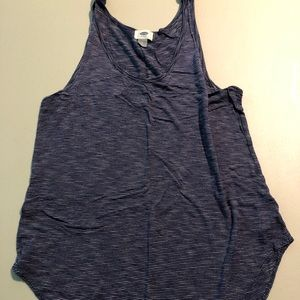 Old navy tank - navy and white